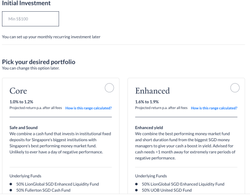 Endowus Cash Smart Create Portfolio 4