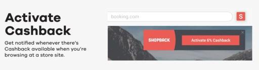 ShopBack Button Activate Cashback