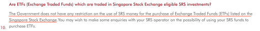 Use SRS To Invest In ETFs on SGX