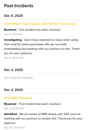 MCO Visa Card Issues