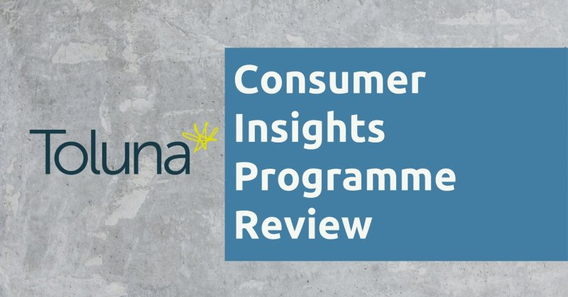 Toluna Consumer Insights Programme Review
