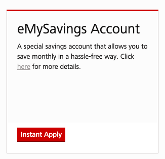 Apply For eMySavings Account