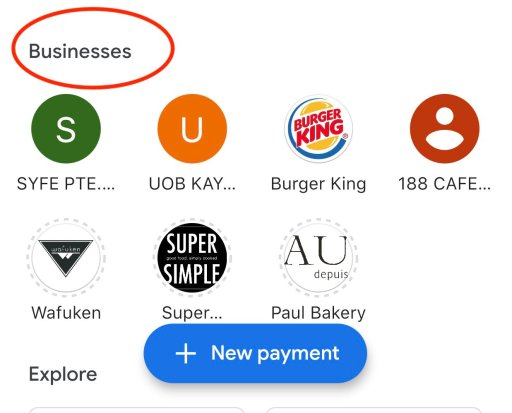 Google Pay Spots Businesses