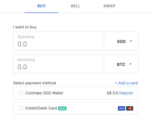 Coinhako Buy Crypto Methods