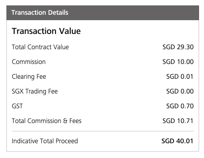 DBS Vickers STI ETF Transaction Details