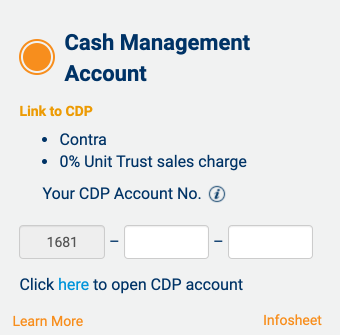 POEMS Link to CDP Cash Management Account
