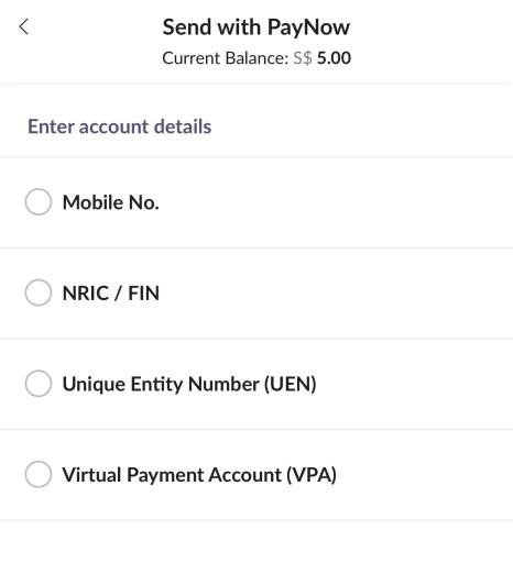 Singtel Dash PayNow Options