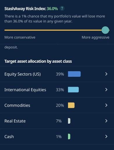 StashAway 36 Percent Asset Allocation