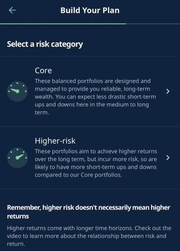 StashAway Core And Higher Risk Portfolio