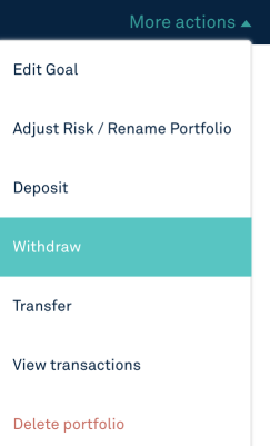 StashAway Withdraw Option