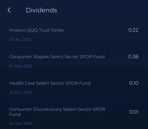 Syfe Dividend Distribution