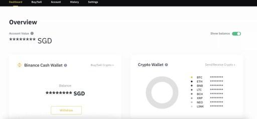 Binance Singapore Web Platform