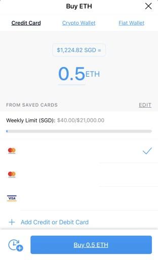 Crypto.com Buy ETH Using Credit Debit Card