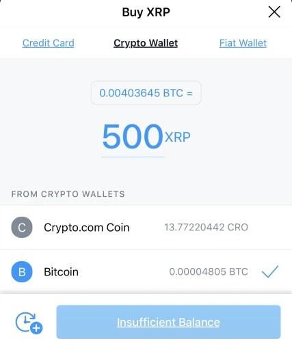 Crypto.com Buy XRP Crypto Wallet