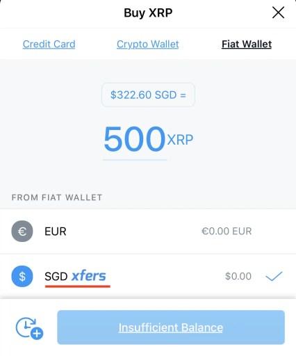 Crypto.com Buy XRP Using Xfers