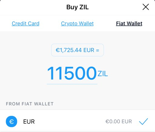 Crypto.com Buy ZIL Fiat Wallet