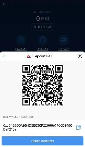 Crypto.com Receive BAT