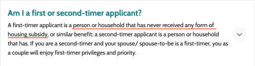 HDB First Timer Applicant Definition