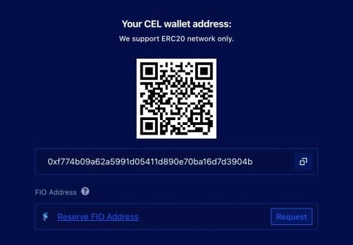Liquid CEL Deposit Wallet Address