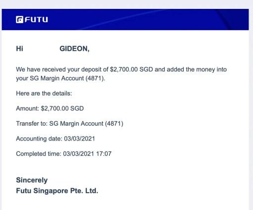 Moomoo FUTU Deposit Notice