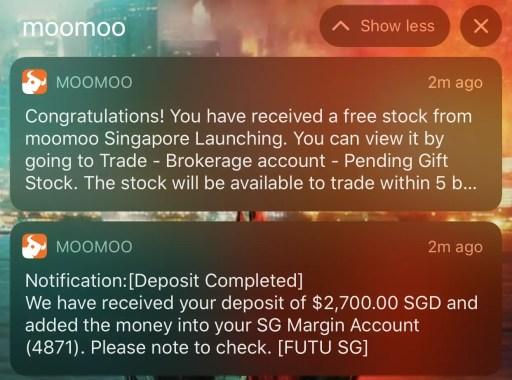 Moomoo Receive Deposit Referral Bonus