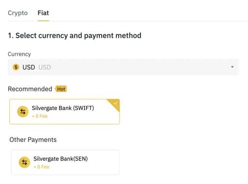 Binance Deposit USD