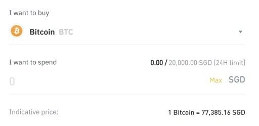 Binance Singapore Buy Crypto