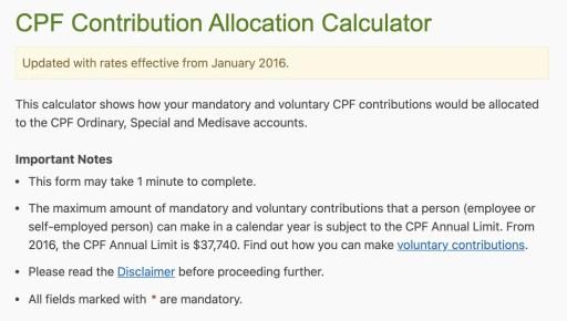 CPF Contribution Allocation Calculator