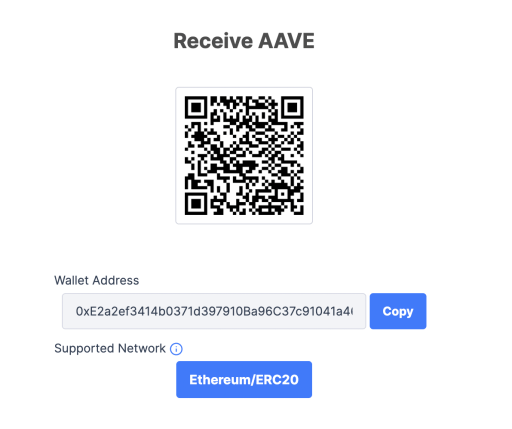 Coinhako AAVE Receive Address