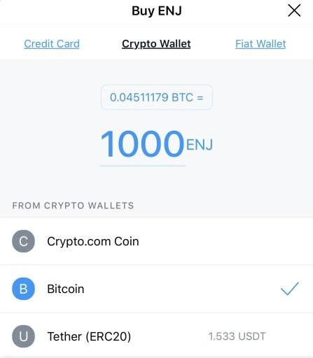 Crypto.com App Buy ENJ Crypto Wallet