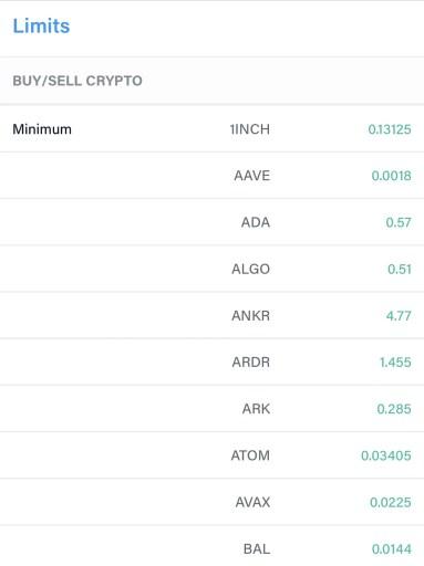 Crypto.com App Minimum Buy