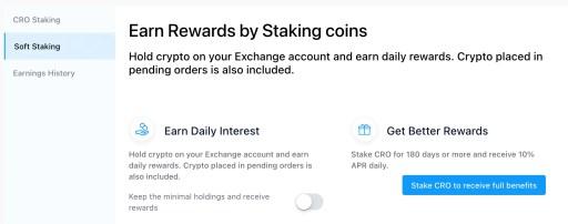 Crypto.com Exchange Soft Staking