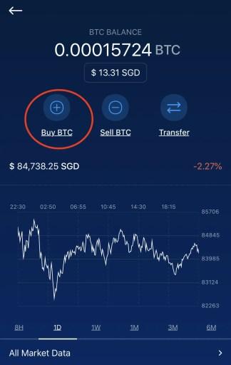 Crypto.com Select Buy BTC
