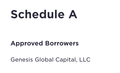 Gemini Earn Approved Borrower