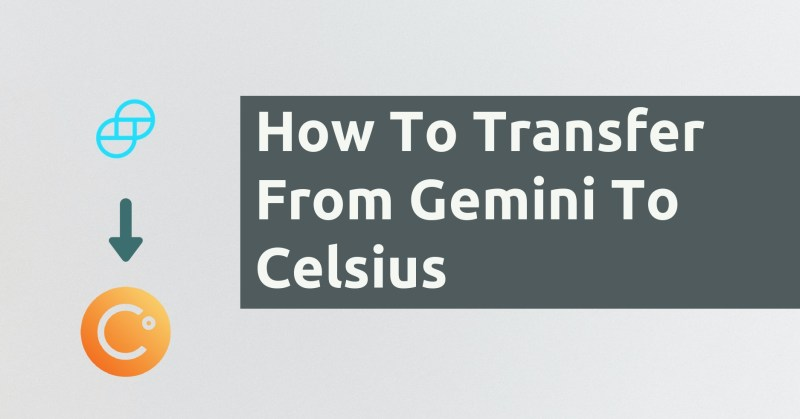 How To Transfer From Gemini To Celsius
