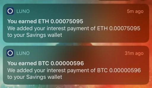 Luno Savings Wallet Earn Interest