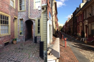Elfreth's Alley- the oldest residential street in the U.S.