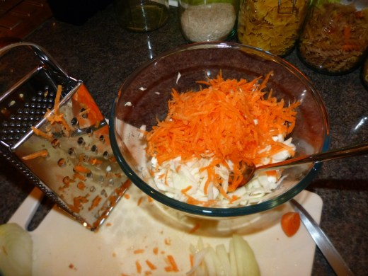 Home Made Coleslaw - Step 1