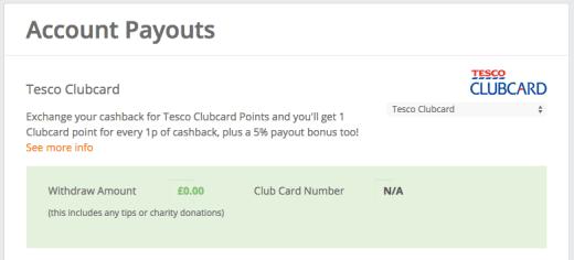 TopCashback Tesco Clubcard Hacking