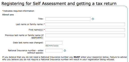How to fill in self assessment tax return