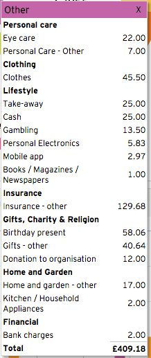 August Expenses Report