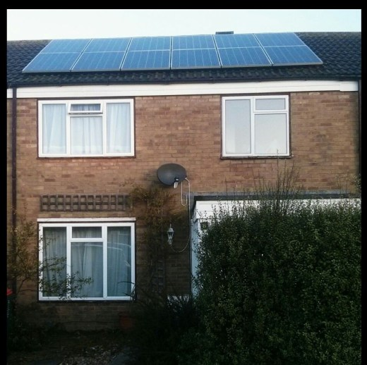 solar panels on our house!