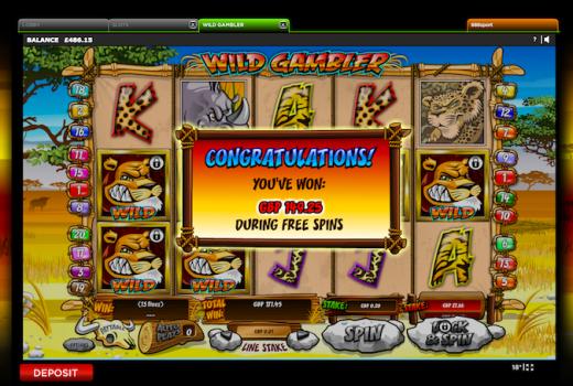 Wild Gambler Free Spins
