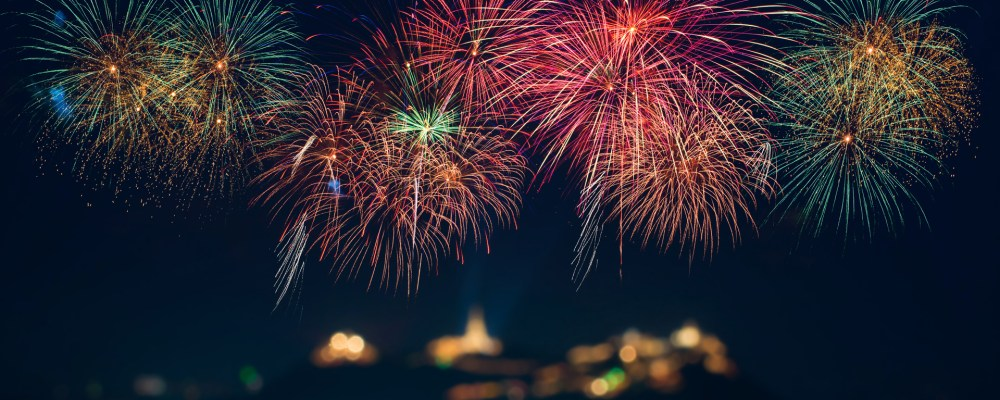 Fireworks Lady Banner
