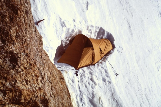 The high camp on the West Rib. Winter 1983