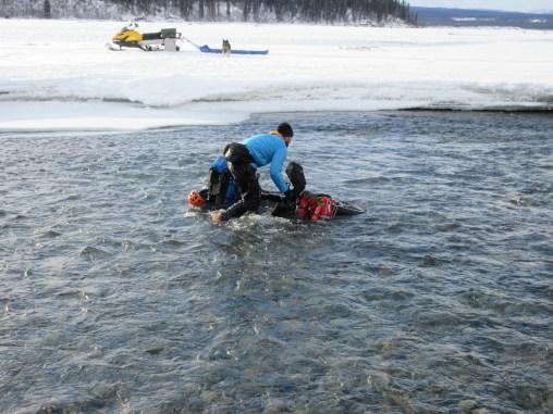 Burr takes a swim (Photo: Scott Adamson)