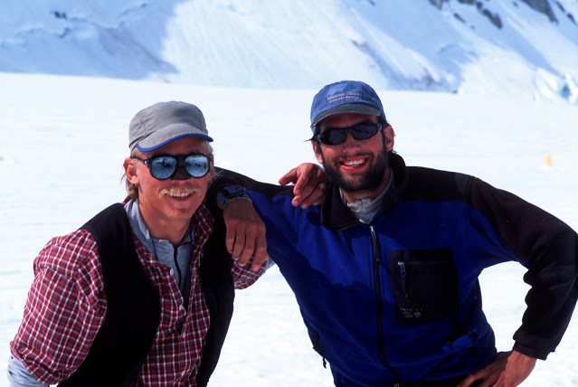 Mark and Joe after climbing the Cassin Ridge in 2000 (Photo: Westman collection)