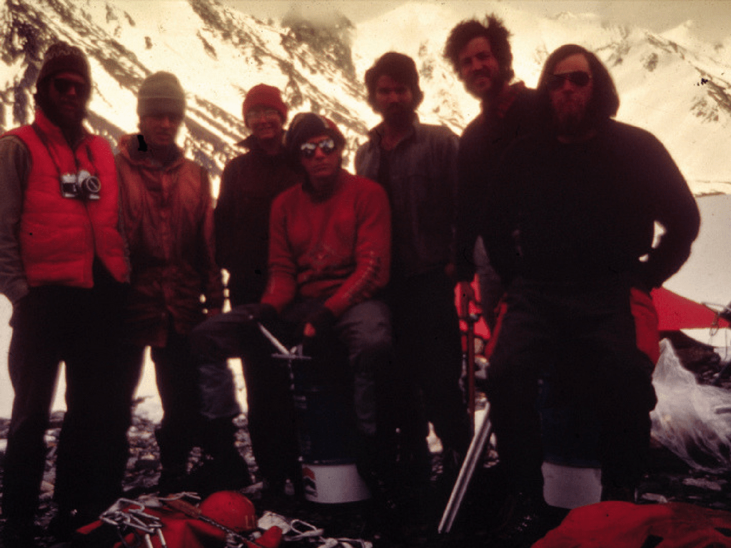 Carl (center) and friends on a trip to Deborah and Hess in 1977
