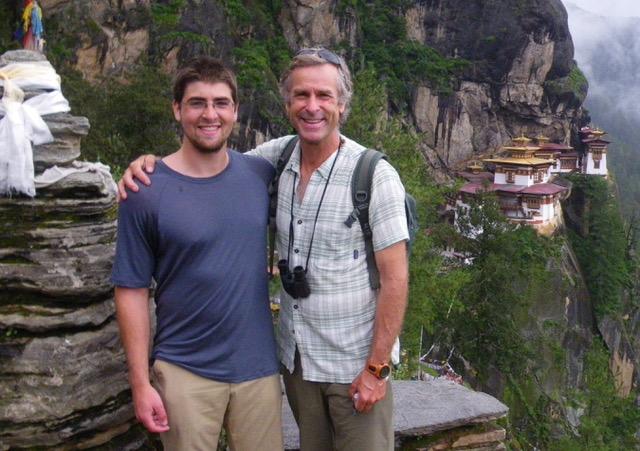 Roman and his son Cody 'Roman' Dial. Bhutan 2012.