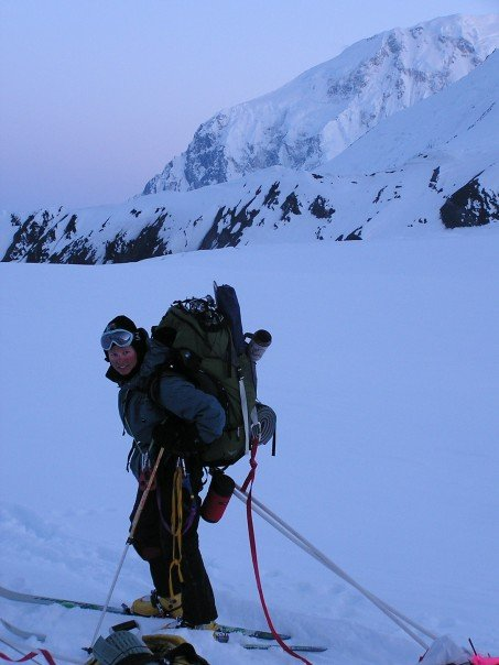 Climbing Denali.